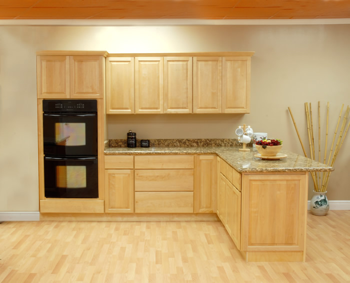 natural - Birch Kitchen Cabinet