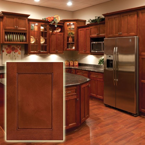 Kitchen image kitchen bathroom design center for Cherry wood kitchen cabinets