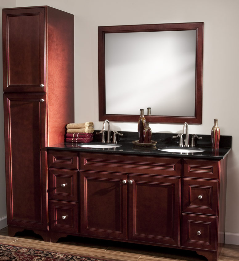 Beau Cherry Avalon Rta Bathroom Cabinets Vanities
