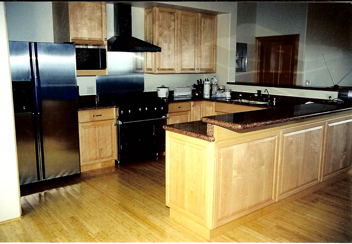 cabinets kitchen 01 solid wood maple