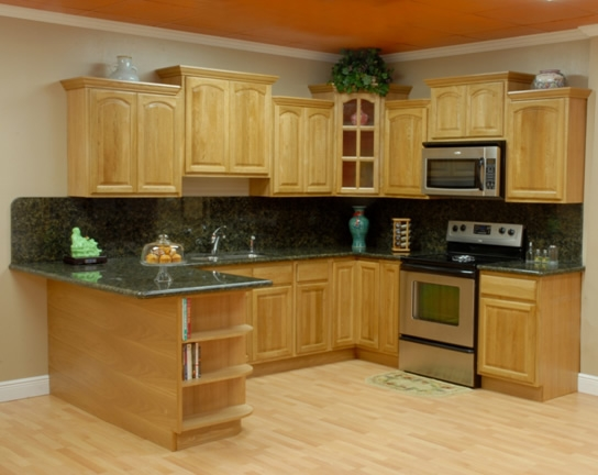 Oak Kitchen Cabinets With Granite Countertops : Kitchen image bathroom design center
